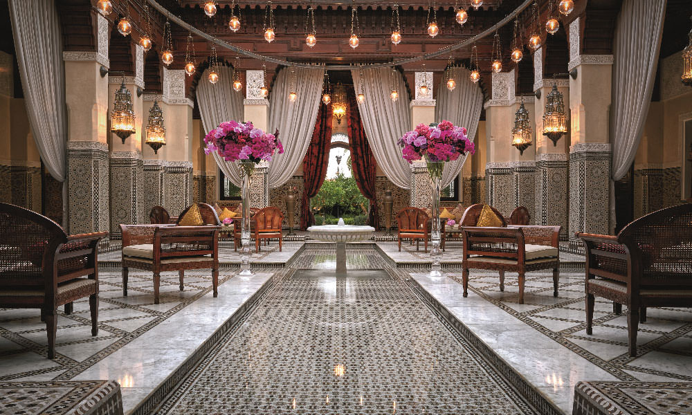 The lobby at Royal Mansour, Marrakech