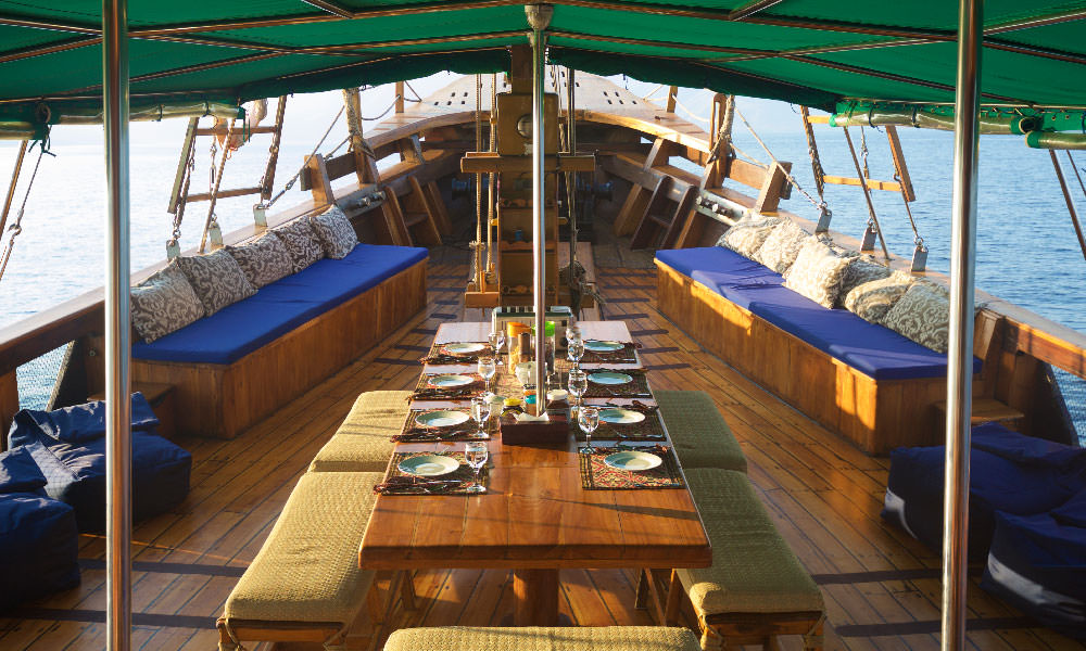 Main deck on Tiger Blue