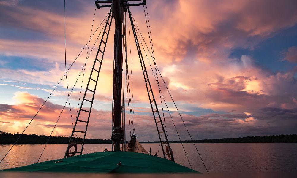 Sunset on Tiger Blue